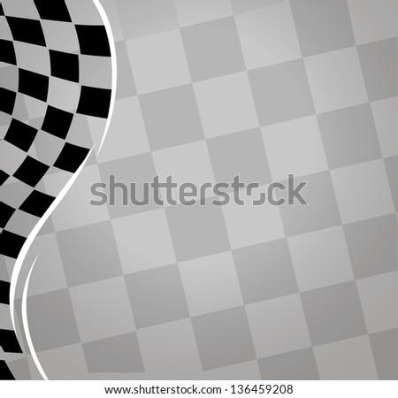 checkered sport racing flag background. jpg version - stock photo