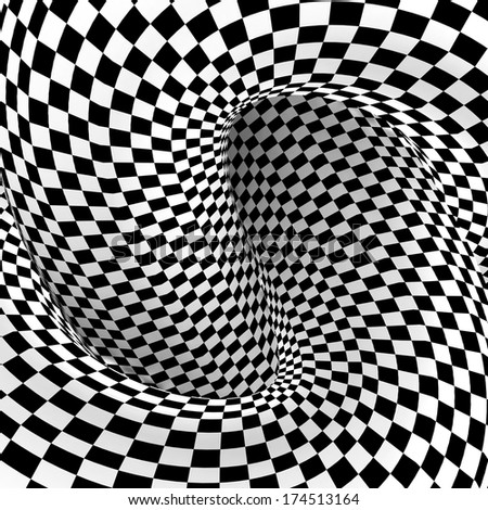 Checkered texture 3d background. Abstract. Design concept