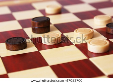 Checkers Board Game - stock photo