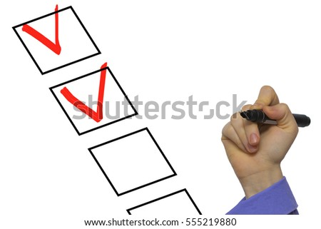 checking list with check sign isolated on white