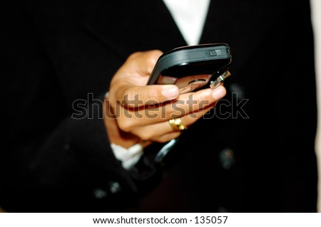 Checking SMS on mobile phone