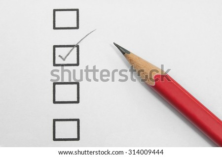 checklist and pencil. - stock photo