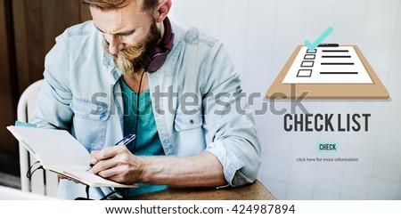 Checklist Choice Decision Document Mark Concept - stock photo