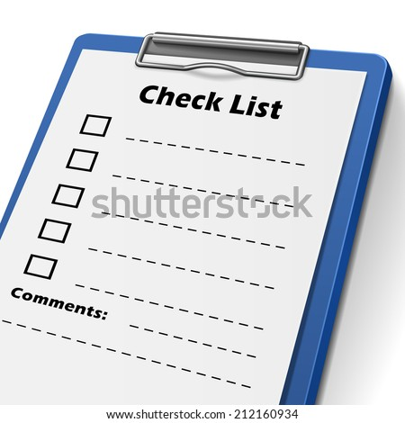 checklist clipboard with check boxes on it - stock photo