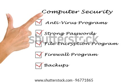 Checklist for computer security