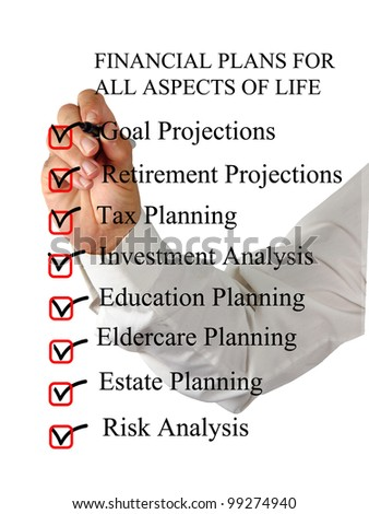 Checklist for financial plans - stock photo