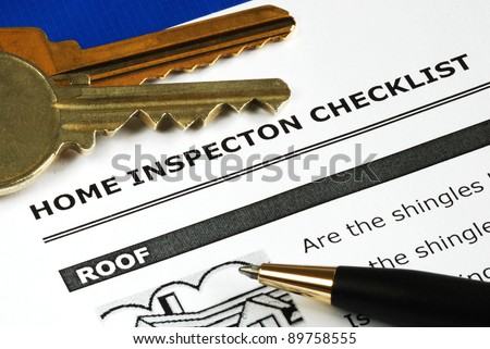 Checklist from the Real Estate Inspection Report - stock photo