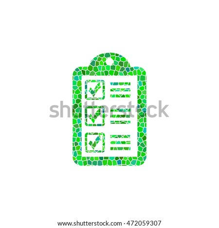 checklist - green  mosaic illustration