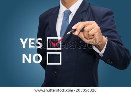 Checklist yes. - stock photo