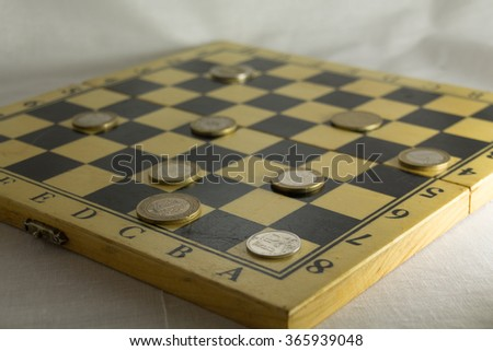 Checkmate for russian rouble. Russian economic crisis concept. - stock photo