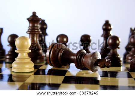 Checkmate- The king is checkmated - stock photo