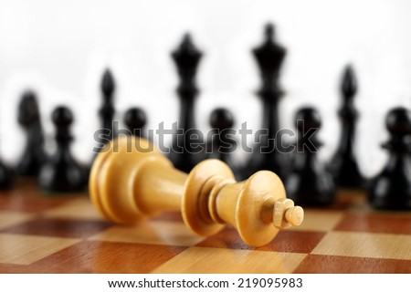 Checkmate white king. Chess concept.