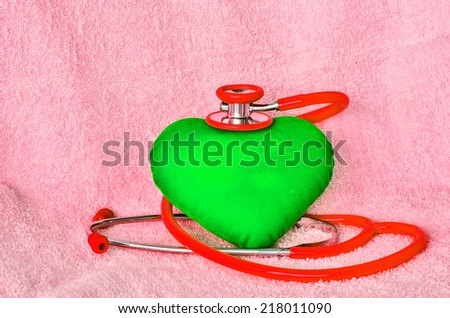 checkup your heart - stock photo