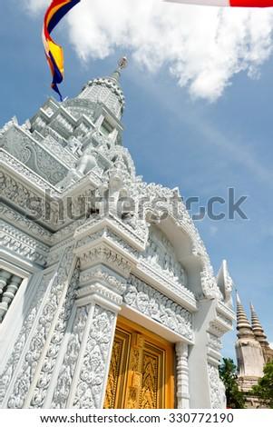 Chedi on Oudong Mountain, Cambodia - stock photo