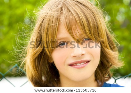 cheerful and happy boy - stock photo