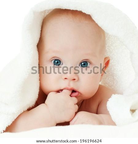 cheerful baby  - stock photo