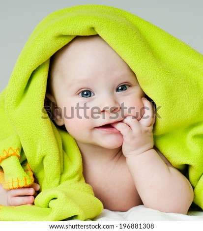 cheerful baby - stock photo