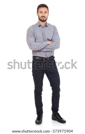 Cheerful businessman - stock photo