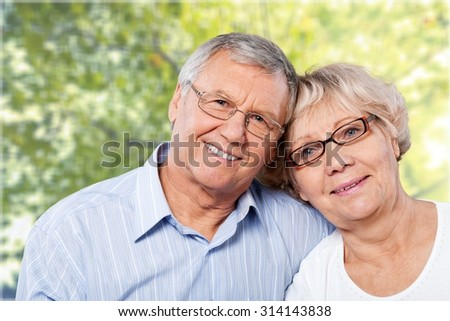 Cheerful Couple. - stock photo