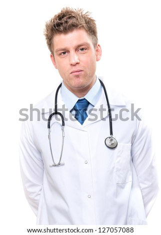 cheerful doctor with stethoscope