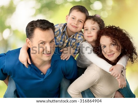 Cheerful Family. - stock photo