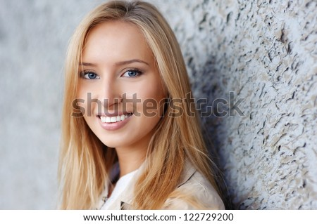 cheerful girl with gorgeous smile