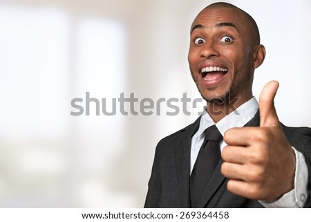 Cheerful. It's great success - stock photo