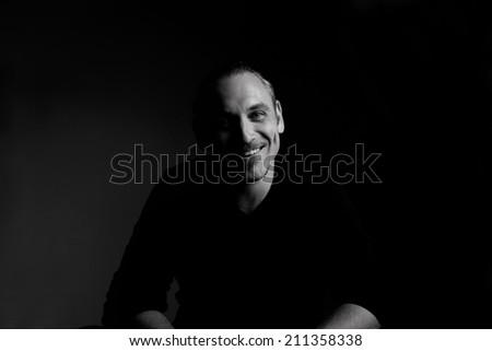 cheerful man - stock photo