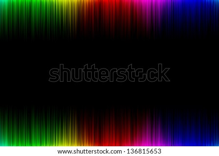 Cheerful rainbow wave on a black background at the level of