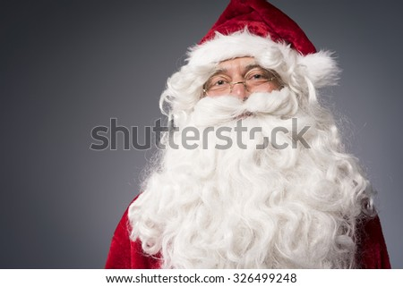 Cheerful Santa claus is waiting for you - stock photo