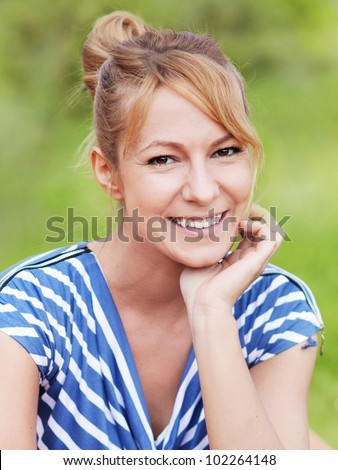 Cheerful woman outdoor