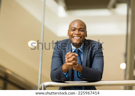 cheerful young afro american business man - stock photo