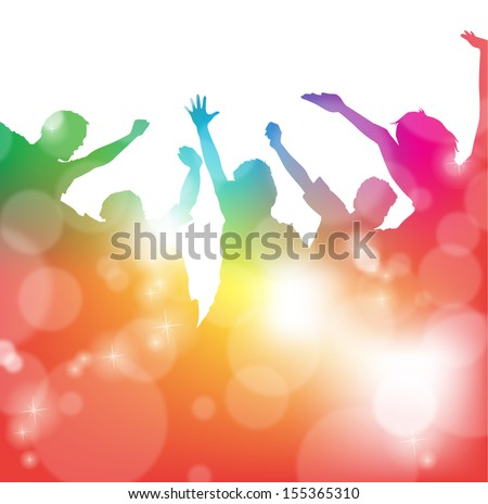 Cheering People at the Festival  - stock photo
