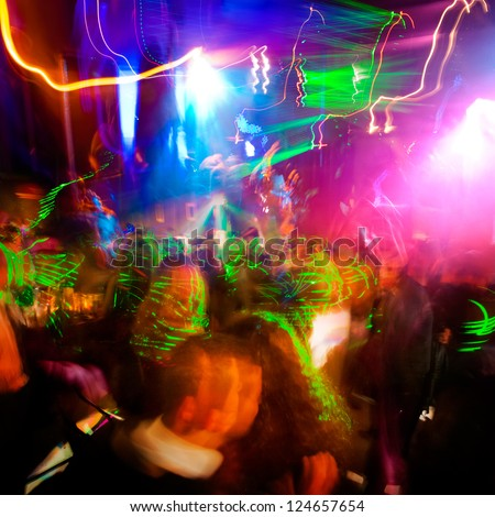 Cheery party. Dancing people. A large group of people. - stock photo