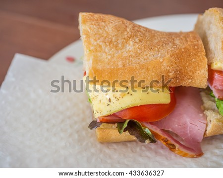 cheese and ham sandwich