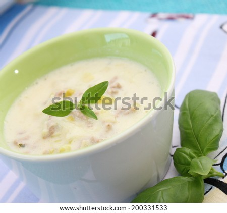cheese and leek soup