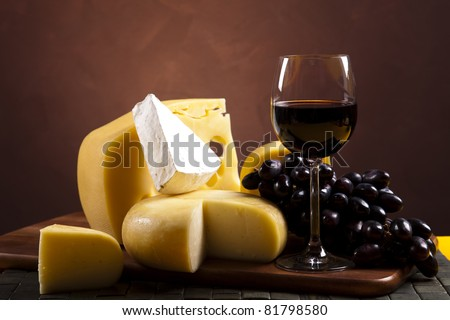 Cheese and wine - stock photo