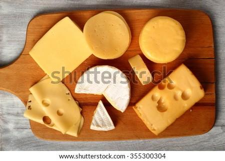 Cheese Assortments - stock photo
