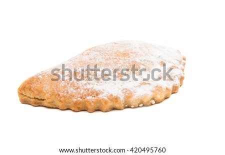 cheese biscuits on a white background - stock photo