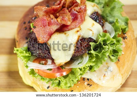 cheese burger - stock photo