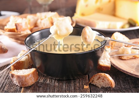 cheese fondue - stock photo