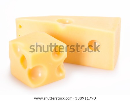 cheese isolated on white background - stock photo