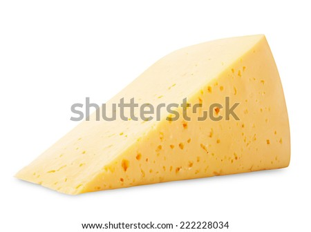 Cheese isolated on white background. Clipping Path - stock photo