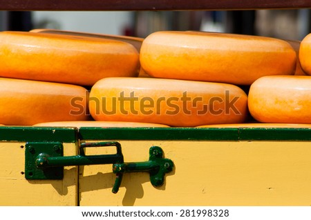 cheese market - stock photo