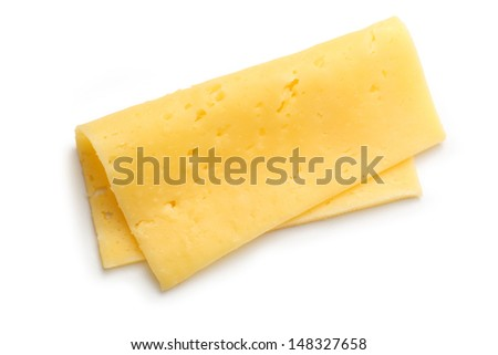 Cheese on the white background - stock photo