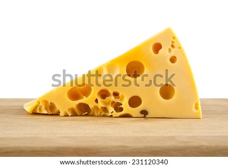 cheese on white background - stock photo