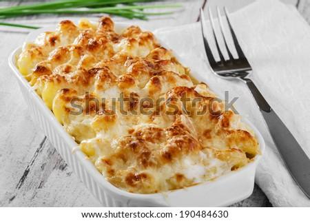 cheese pasta casserole - stock photo