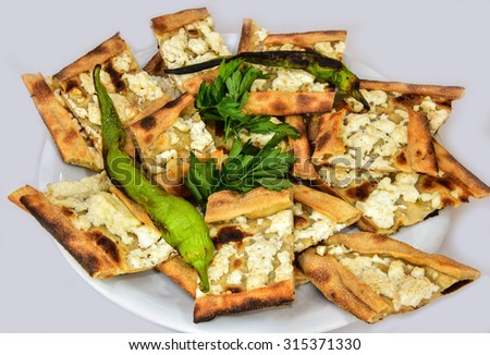 cheese pide - stock photo