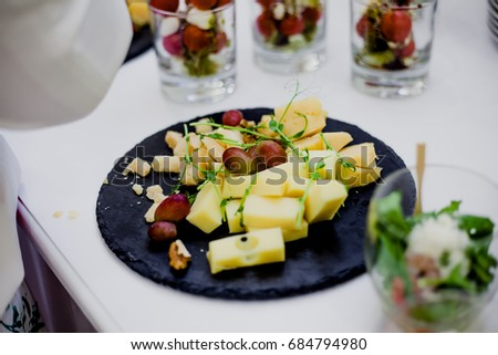 Cheese plate catering wedding