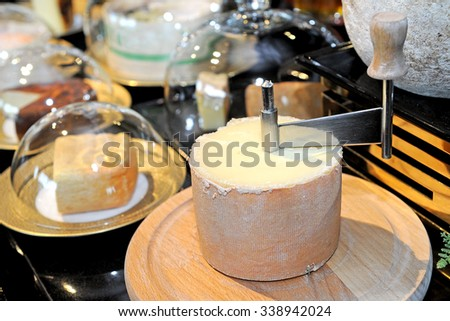 cheese produced from goat milk - stock photo